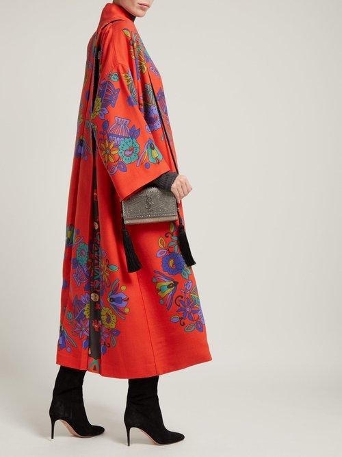 Freia Floral Print Wool Coat by Rianna + Nina