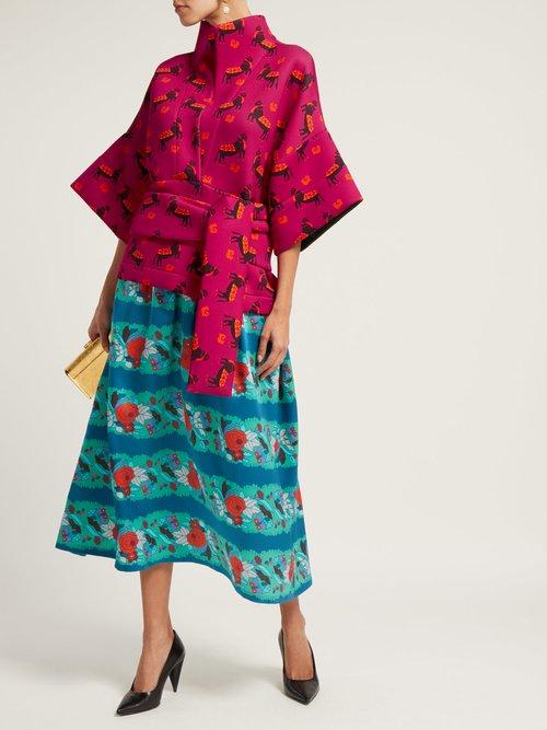 Helena Neoprene And Silk Dress by Rianna + Nina