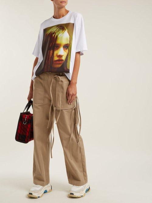 Christiane F. photographic-print T-shirt by Raf Simons