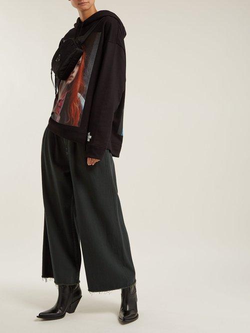 Christiane F. photographic-print hooded sweatshirt by Raf Simons