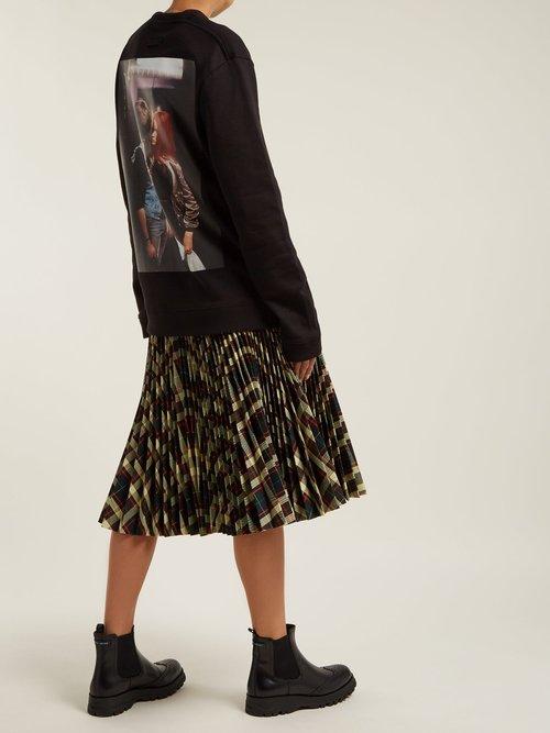 Christiane F. photographic-print cotton sweatshirt by Raf Simons