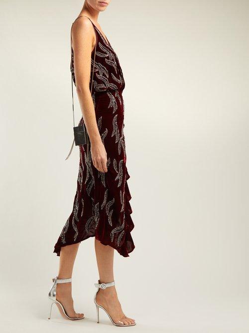 Photo of Agnes Bead Embellished Velvet Dress by Dodo Bar Or - shop Dodo Bar Or online sales