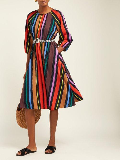 Jane Striped Cotton Midi Dress by Ace & Jig
