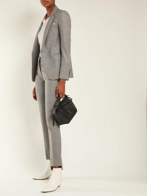 Sequin Trimmed Wool Blend Blazer by Summa
