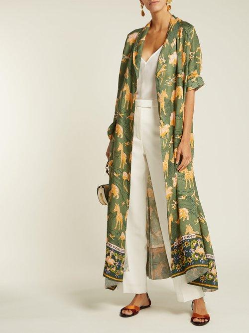 Safari Print Linen Robe by Chufy