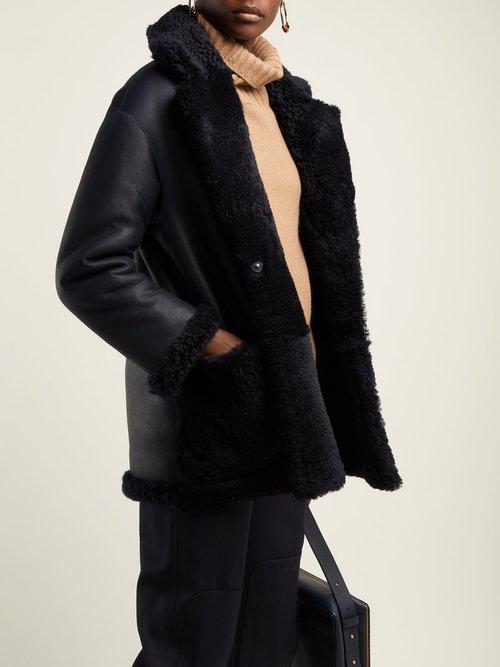 Ingrid Reversible Shearling Coat by Giani Firenze