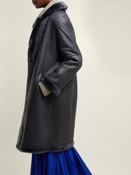 Andrea Reversible Shearling Coat by Giani Firenze