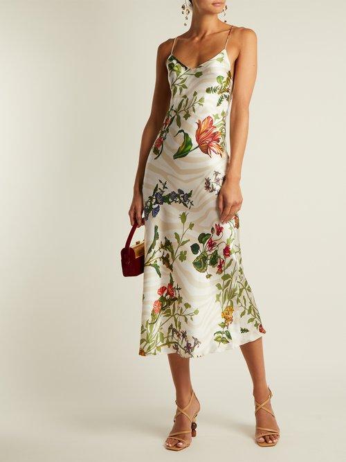 Jadi floral-print silk-blend slip dress by Adriana Iglesias