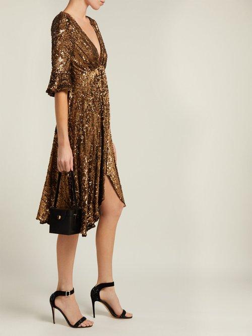 Arielle Sequinned Midi Dress by Maria Lucia Hohan