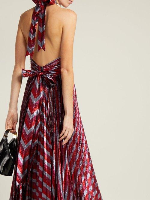 Inais Halter Neck Silk Blend Dress by Maria Lucia Hohan