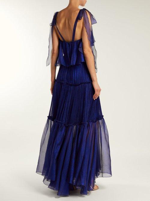 Norah Bustier Silk Dress by Maria Lucia Hohan