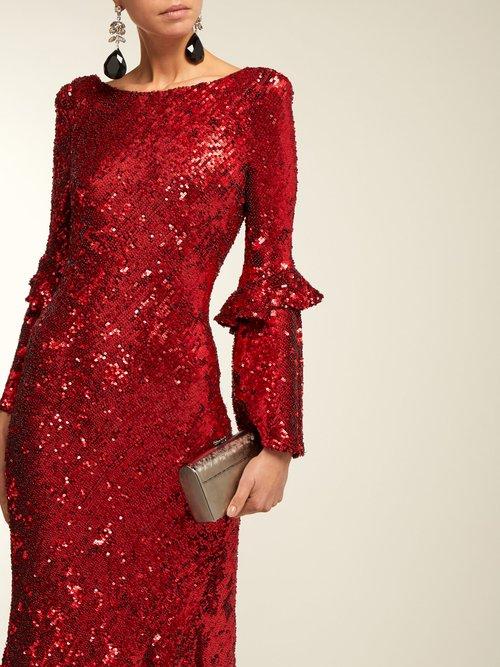 Polina Asymmetric Sequinned Dress by Maria Lucia Hohan