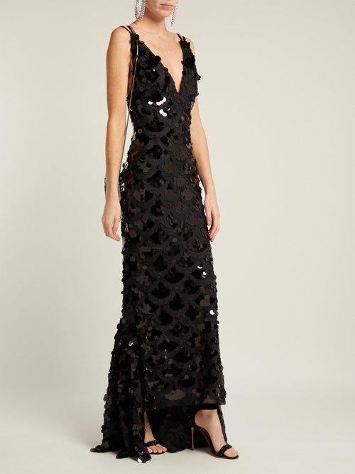 Kiah Pailette Sequinned Silk Dress by Maria Lucia Hohan