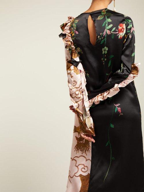 Suna Print Silk Dress by By Walid