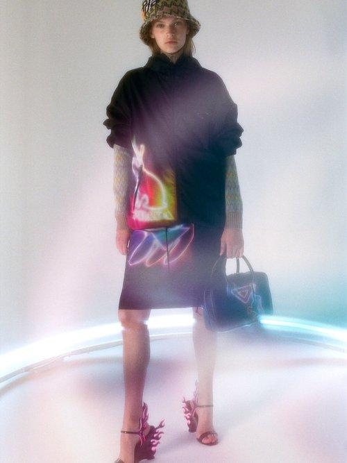 Neon Banana Print Dress by Prada