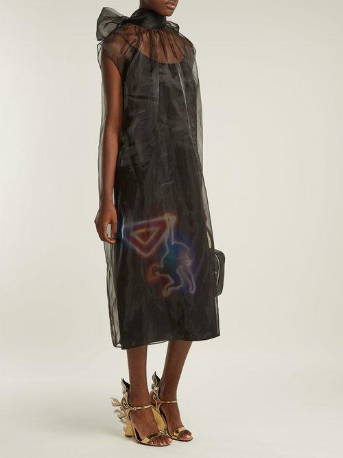 Monkey Print Organza Dress by Prada