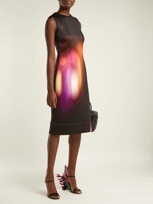 Neon-print dress by Prada