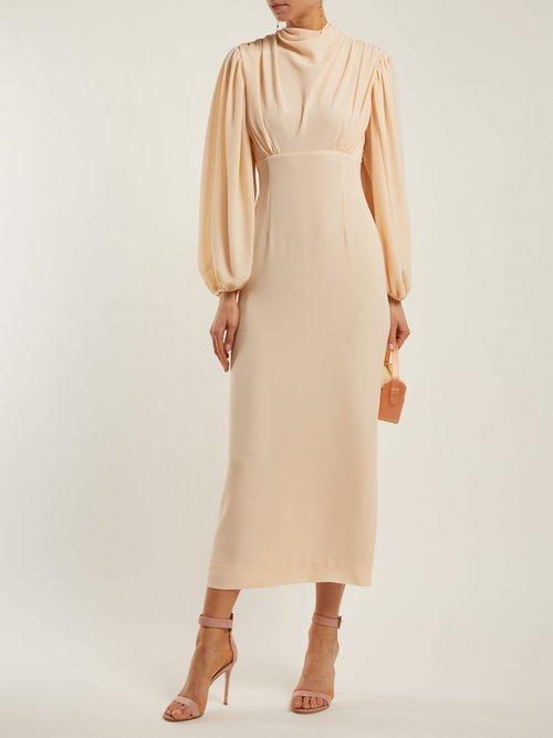 Niamh Draped Crepe Midi Dress by Emilia Wickstead