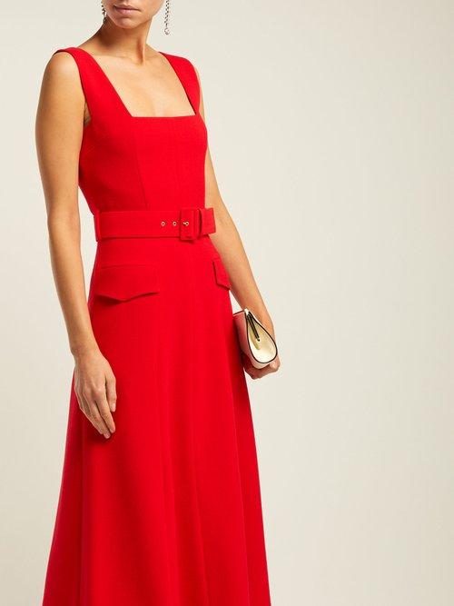 Petra Panelled Wool Crepe Midi Dress by Emilia Wickstead