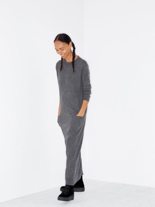 Pocket Front Cashmere Midi Dress by Raey