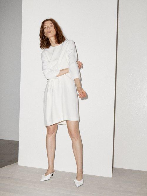 Bracelet-sleeve crepe mini dress by Raey