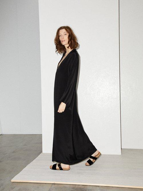 Kimono Sleeve Silk Beach Dress by Raey