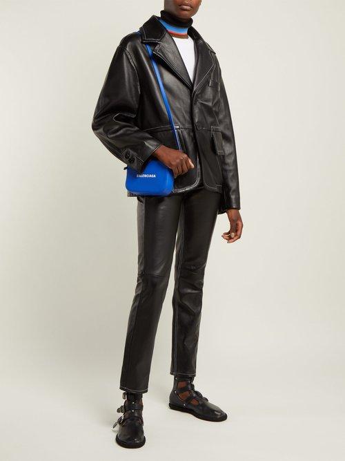 Single Breasted Leather Blazer by MM6 Maison Margiela