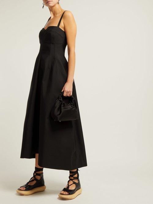 Ginestra Twill Bustier Dress by Jil Sander