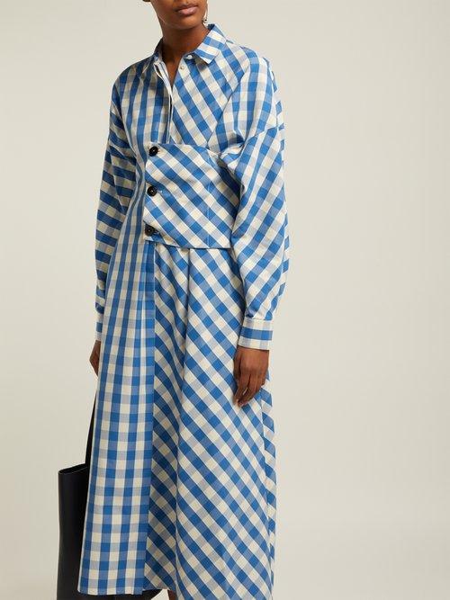 Genziana Gingham Cotton Shirtdress by Jil Sander