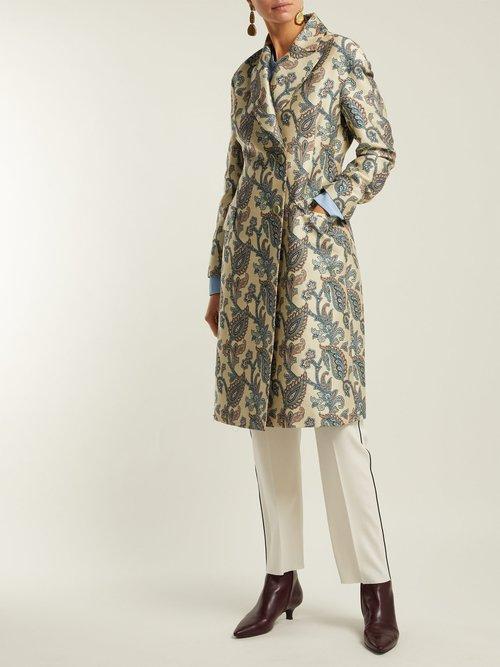 Carmen Paisley Jacquard Cotton Blend Coat by Etro