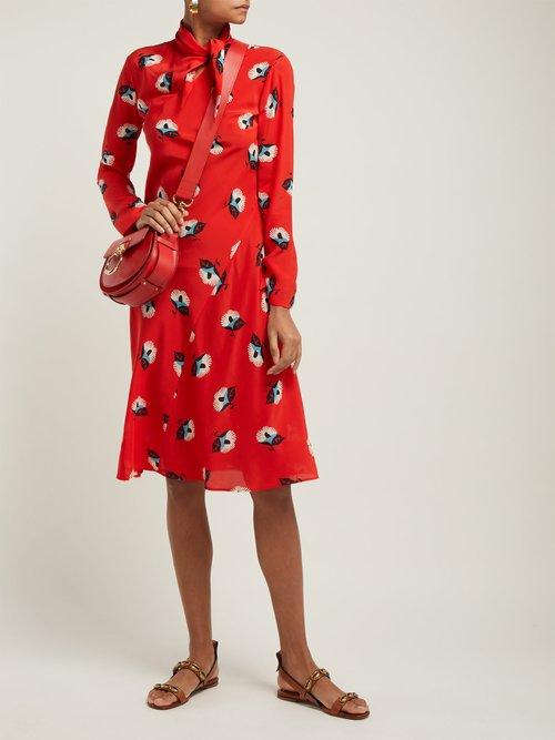 Modlin Floral Print Silk Crepe Dress by Etro