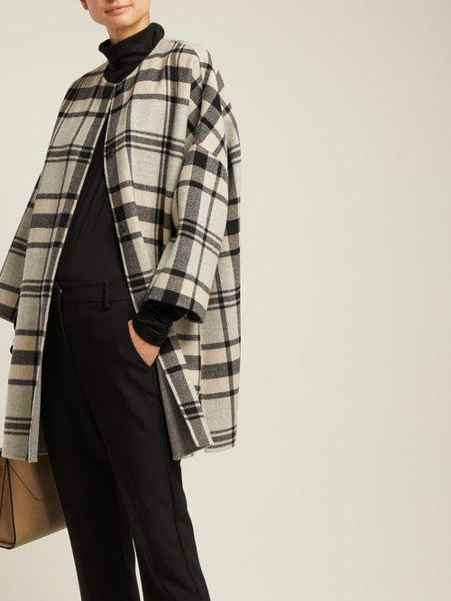 Photo of Reversible Checked Wool Blend Coat by Weekend Max Mara - shop Weekend Max Mara jackets and coats sales