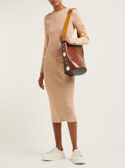 Compact Knit Cotton Blend Midi Dress by Sportmax