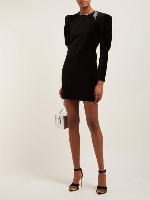 Ziane Rhinestone Embellished Velvet Dress by Isabel Marant