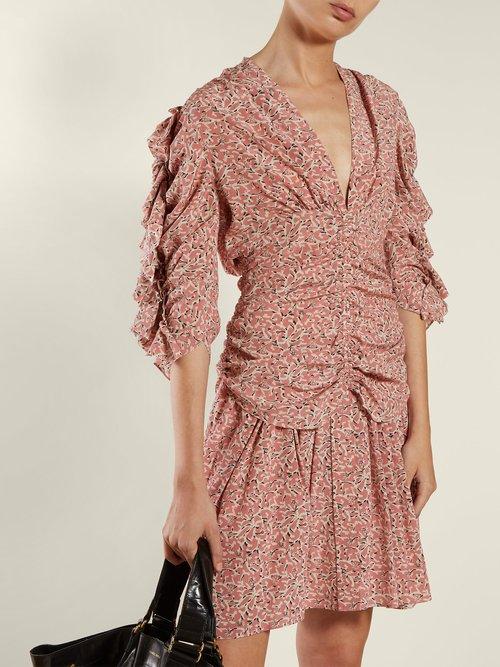 Andora Ruffled Silk Blend Crepe Blouse by Isabel Marant