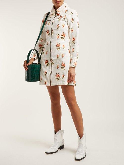 Codie Floral Print Cotton Corduroy Dress by M.I.H Jeans