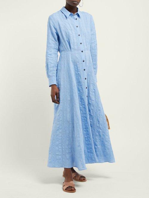 Michelle Linen And Cotton Blend Dress by Mara Hoffman