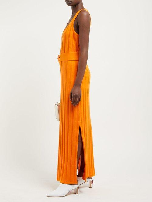 Harlow Ribbed Cotton Midi Dress by Mara Hoffman