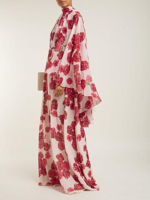 Peony Print Silk Georgette Gown by Giambattista Valli