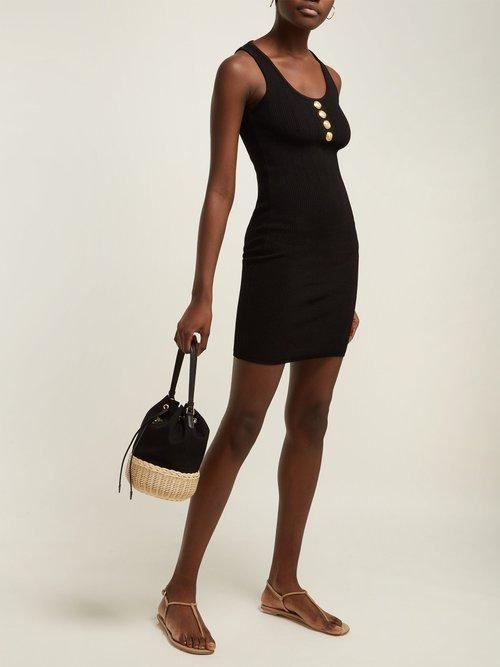 Ribbed Knit Mini Dress by Balmain