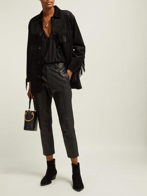 Fringed Suede Jacket by Nili Lotan