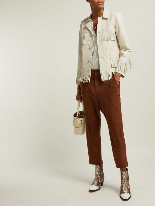 Frida Fringed Leather Jacket by Nili Lotan