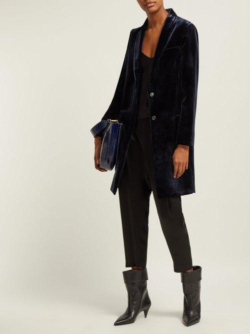 Reese Single Breasted Velvet Jacket by Nili Lotan