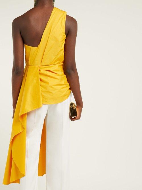 Ancient Sun One Shoulder Cotton Blend Top by Johanna Ortiz