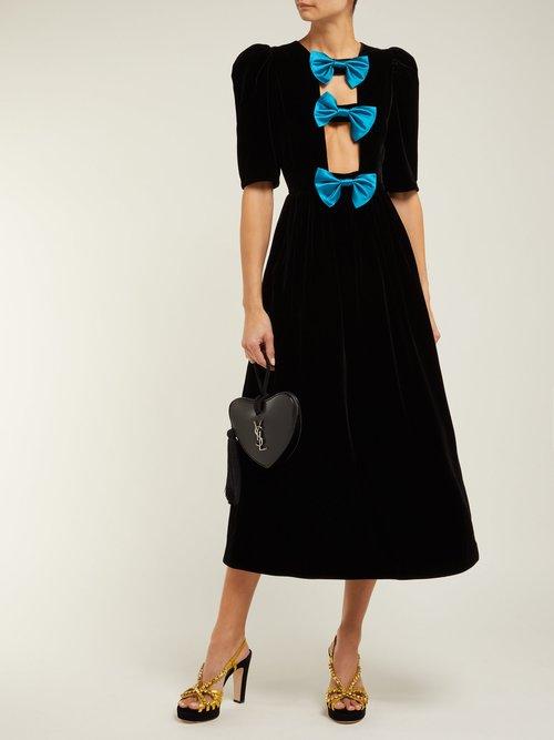 Zephyra Crystal Embellished Velvet Sandals by Gucci