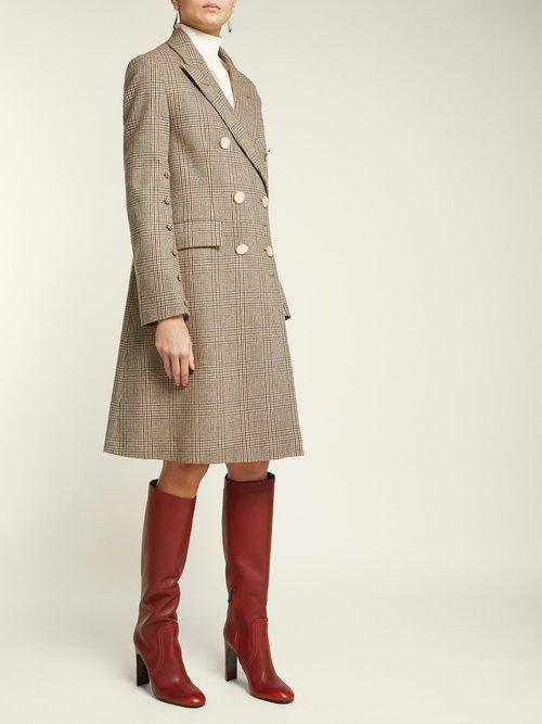 Intrecciato Heel Knee High Leather Boots by Bottega Veneta