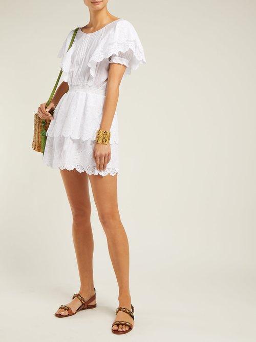 Gabriel Ruffled Cotton Mini Dress by Sir