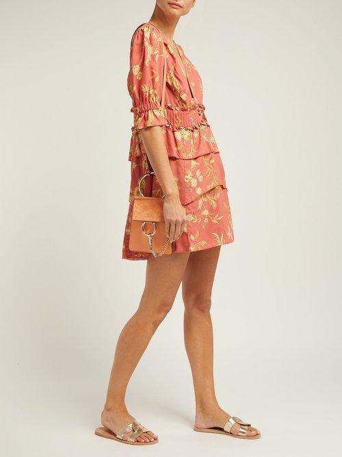Florentine Floral Print Silk Mini Dress by Sir