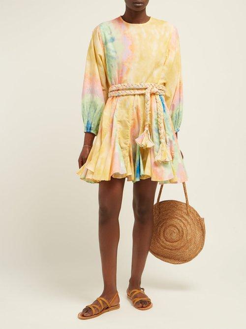 Ella Tie Dyed Cotton Mini Dress by Rhode Resort