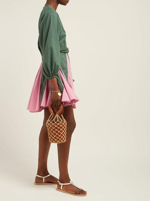 Photo of Ella Godet Skirt Cotton Dress by Rhode Resort - shop Rhode Resort dresses online sales